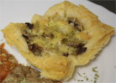Beilage: Blätterteig-Pilz-Muffins - Rezept