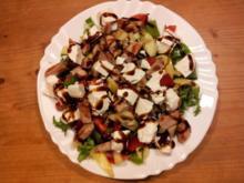 Bunter Salat mit Ziegenkäse und Hähnchenbruststeifen - Rezept