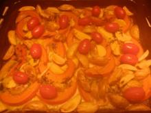 Kürbis-Kartoffelgemüse aus dem Backofen - Rezept