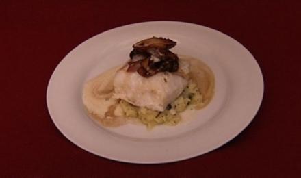 Kabeljau mit Kartoffelstampf und Kräuterseitlingen (Judith Hildebrandt) - Rezept