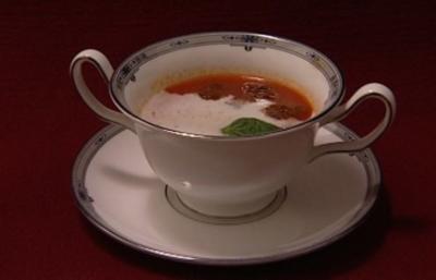Mediterrane Tomatencrèmesuppe (Willi Lemke) - Rezept