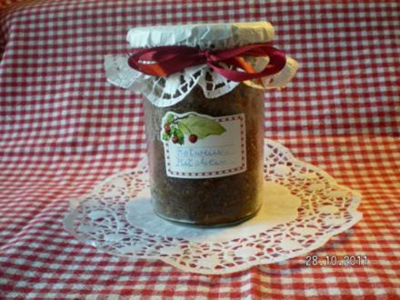 Rotweinkuchen im Glas - Rezept