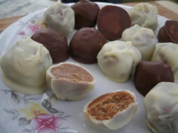 Weiches Karamel mit Schokoüberzug - Rezept