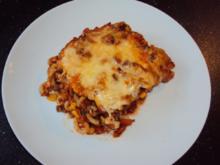 Auflauf mit Hackfleisch und Gabelspaghetti  LOW FETT 30 - Rezept