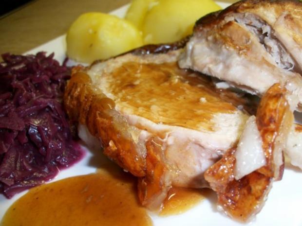 Schweine Schinkenkrustenbraten mit selbst Zubereiteten Soßenfond - Rezept - Bild Nr. 2