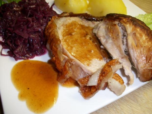 Schweine Schinkenkrustenbraten mit selbst Zubereiteten Soßenfond - Rezept - Bild Nr. 6