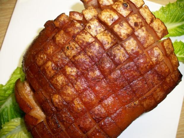 Schweine Schinkenkrustenbraten mit selbst Zubereiteten Soßenfond - Rezept - Bild Nr. 8