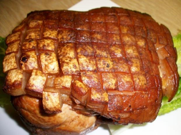 Schweine Schinkenkrustenbraten mit selbst Zubereiteten Soßenfond - Rezept - Bild Nr. 9
