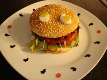 Halloween Burger - Rezept