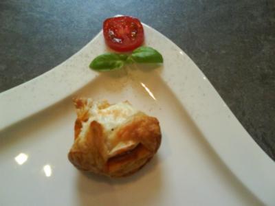 Körbchen mit chorizo/Ziegenkäse - Rezept