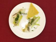 Geviertelte Salatherzen mit Boquerones (Knacki Deuser) - Rezept