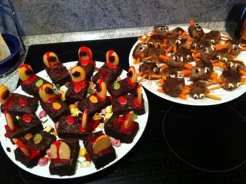 Rezept: Schokogräber - Brownies zu Halloween