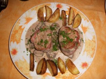 Rezept: Schweinemedaillons mit Champingonsauce und Kartoffeln