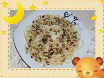 Spaghetti mit Sonnenblumenkerne - Rezept