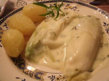 Rezept: Chicoree in Estragon-Weißweinsoße