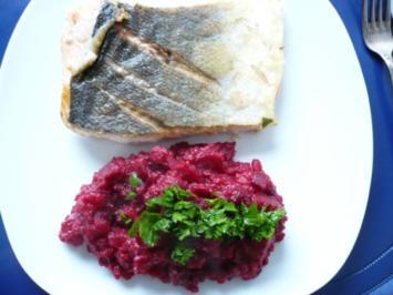 Lachsfilet mit Rote Bete Püree - Rezept
