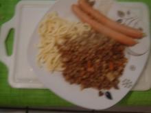 Schwäbische Linsen mit Spätzle und Saitenwürstle - Rezept