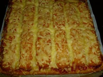 Rezept: Fischstäbchen Pizza
