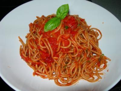 Spaghetti arrabiata - Rezept