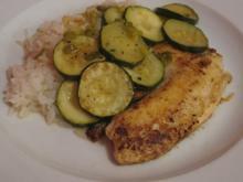 Tilapia mit Zucchinigemüse - Rezept