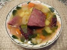 Suppen & Eintöpfe : Gemüsesuppe mit geräuchertem Schweinehals -kamm- - Rezept