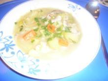 Gemüsesuppe mit Champignons und getrockneten Steinpilzen - Rezept