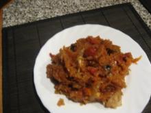 Scharfes Paprika-Tomaten-Sauerkraut - Rezept