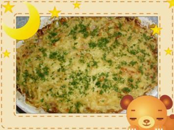 Gabelspaghetti-Gratin mit Pfifferlingen - Rezept