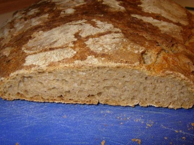 Roggenmischbrot mit Buttermilch und Sauerteig - Rezept - Bild Nr. 2