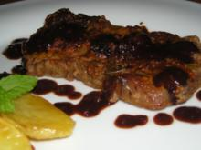 "Roastbeef Steak mit Rotwein "" Reduktion"" - Rezept"