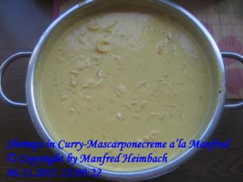 Shrimps – Shrimps in Curry-Mascarponecreme a'la Manfred - Rezept
