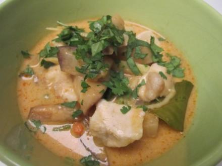 Rotes Curry mit Rind, Ingwer und Thai-Auberginen - Rezept