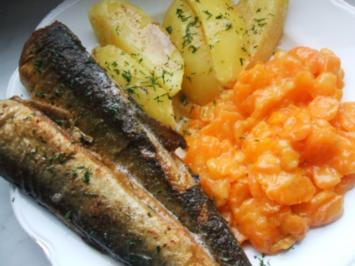Grüne Heringe - Salzkartoffeln und feinem - Rezept