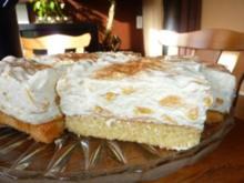 Kuchen: Fantakuchen mit Pfirsichschmand - Rezept