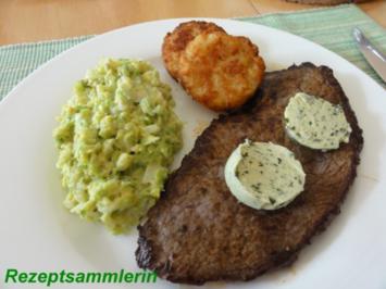 Gemüse:   RAHMWIRSING zu Rindersteak und Rösti - Rezept