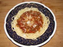 Fleisch: Meine Hackfleischsoße zu Spaghetti - Rezept