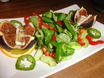 Feige gratiniert mit Salat - Rezept
