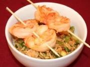 Reissalat mit Curry Gambas - Rezept