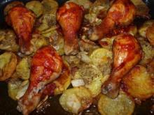 Hähnchenkeulen mit Tomatenkruste     (Cuisses de poulet au four) - Rezept