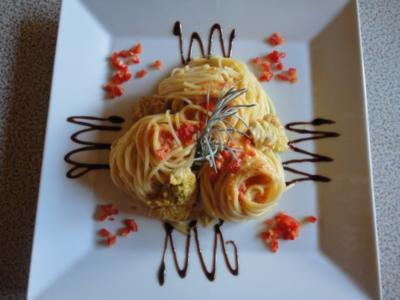 Paprika Pasta mit Puten Stücken - Rezept