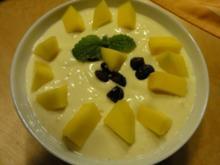 beschwipstes Mango-Joghurt-Quarkdessert - Rezept