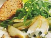 Salat -Rucola-Birne und Roquefort - Rezept