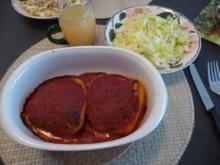 Hackfleisch : Paprikaschoten mit  Hackfleisch - Reisfüllung - Rezept
