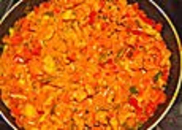 Cremiges Curry-Hühnchen mit Gemüse - Rezept
