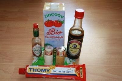 scharfer Tomatensaft - Rezept