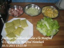 Salat – fruchtiger Maultaschensalat a'la Manfred - Rezept