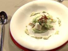 Gedünstete Schollenröllchen mit Gurkensalat à la Kotaska - Rezept