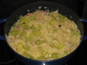 Gemüse: Weintrauben-Sauerkraut - Rezept