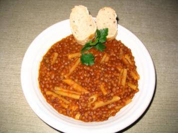 monni`s Pasta e lenticchie/ Linseneintopf - Rezept