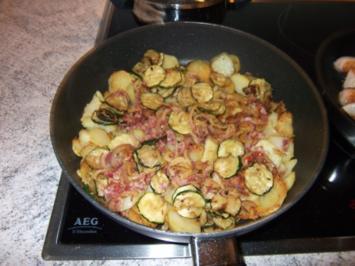 Bratkartoffeln mit Zucchini und Bacon Dieter´s Art - Rezept
